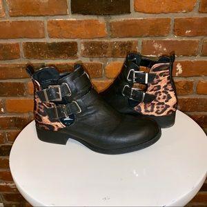 Kendal & Kylie Animal Print Vegan Leather Boots 9